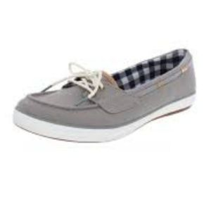 Keds Glimmer Canvas Boat Sneakers Size 7 Grey Blue
